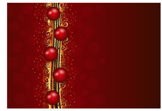 Christmas decoration in red and gold stripes Royalty Free Stock Photo
