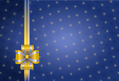 Christmas wallpaper pattern. Blue christmas background with ribbon and snowflake Royalty Free Stock Photo