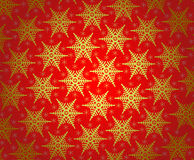 Christmas wallpaper pattern. Red Christmas wallpaper pattern with snowflake Stock Image