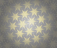 Christmas wallpaper pattern. Grey Christmas wallpaper pattern with snowflake Stock Photography