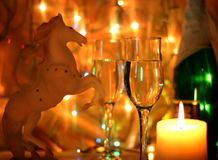 Christmas Wallpaper year of the horse Royalty Free Stock Photo