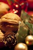Christmas walnut Stock Photos