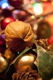 Christmas walnut Stock Photo