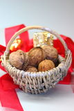 Christmas walnuts Royalty Free Stock Photo