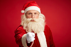 Christmas warning Royalty Free Stock Images