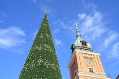 Christmas Warsaw stock image
