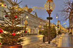 Christmas in Warsaw, Poland Stock Images