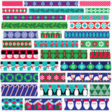 Christmas washi tape clipart Royalty Free Stock Image