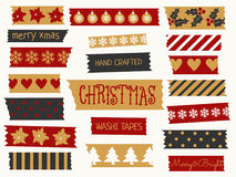 Christmas Washi Tape Collection Royalty Free Stock Images