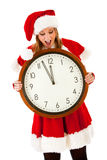 Christmas: Watching Clock For Christmas Stock Photo