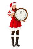Christmas: Watching Clock For Christmas Royalty Free Stock Image