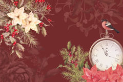 Christmas Watercolor Background Stock Photo
