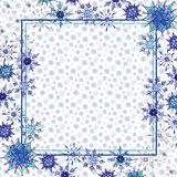 Christmas watercolor snowflakes background template. Christmas watercolor snowflakes background. Decorative Snowflakes seamless watercolors pattern, winter theme vector illustration