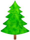 Christmas watercolor tree Royalty Free Stock Photography