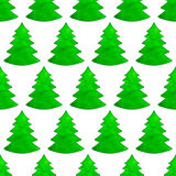 Christmas watercolor tree pattern Stock Photography