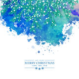 Christmas Watercolor Vector Background Stock Photography