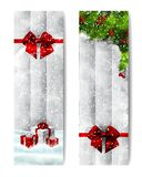 Christmas watercolor vertical banners royalty free illustration