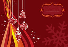 Christmas waves background Royalty Free Stock Photos