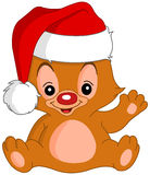 Christmas Waving teddy bear Royalty Free Stock Image