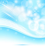 Christmas wavy background with snowflakes Stock Images