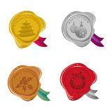Christmas wax seal icon Royalty Free Stock Photo