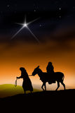 The Christmas Way. All the way from Nazareth to Bethlehem Royalty Free Stock Image