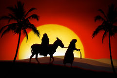 The Christmas Way. All the way from Nazareth to Bethlehem Stock Photos