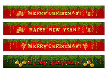Christmas web banner set Royalty Free Stock Photo
