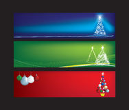 Christmas web banners. Blank christmas web banners with space for text Stock Image