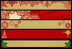 Christmas Web Banners. Five Christmas Web Banners. Layered .eps file for easy editing Stock Images