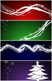 Christmas web banners / backgrounds Stock Photography