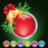 Christmas web button Royalty Free Stock Photos