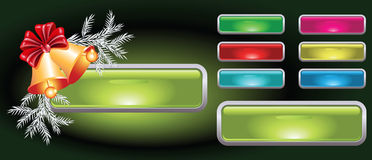 Christmas web button Royalty Free Stock Image