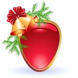 Christmas web button Stock Photos