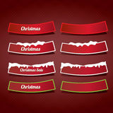 Christmas web buttons set. winter web buttons Stock Image
