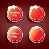 Christmas web buttons set. winter web buttons Stock Photos