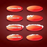 Christmas web buttons set. winter web buttons Royalty Free Stock Photos