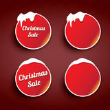 Christmas web buttons set. winter web buttons. Collection Stock Photos