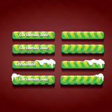 Christmas web buttons set. winter web buttons Royalty Free Stock Images
