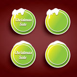 Christmas web buttons set. winter web buttons. Green Christmas web buttons set. winter web buttons collection vector illustration