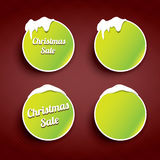 Christmas web buttons set. winter web buttons. Green Christmas web buttons set. winter web buttons collection royalty free illustration