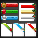 Christmas Web Elements. Vector. Christmas Web Elements, Isolated On Black Background Royalty Free Stock Image