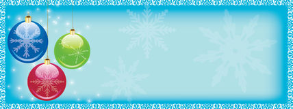 Christmas web header Stock Photography