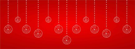 Christmas web heading. In reddish background , vector Stock Photos