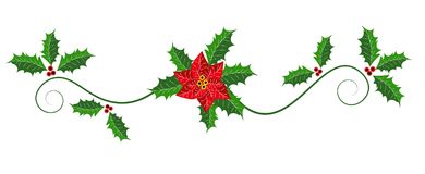 Christmas web heading, page border design Royalty Free Stock Images