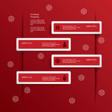 Christmas web or infographic elements in white. Frames with 3d effect. Eps10 vector illustration Stock Photo