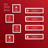 Christmas web or infographic elements in white. Frames with 3d effect. Eps10 vector illustration Royalty Free Stock Images