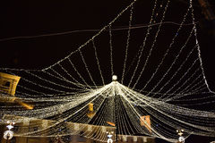 Christmas web of lights Royalty Free Stock Photos