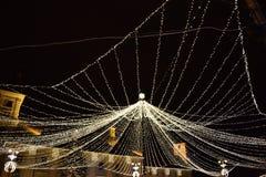 Christmas web of lights Royalty Free Stock Photos