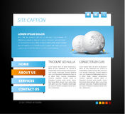 Christmas web page template. With 3d navigation items Stock Photography